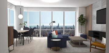 Online design Contemporary Combined Living/Dining by Laura A. thumbnail