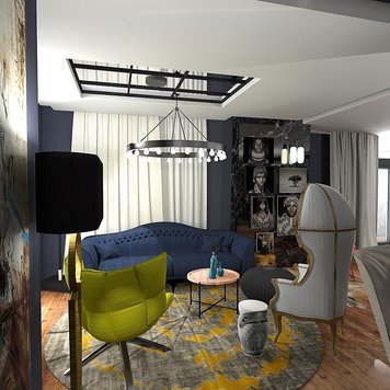 Online design Transitional Living Room by Ahmed E. thumbnail