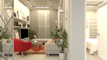 Online design Contemporary Living Room by Rana S. thumbnail