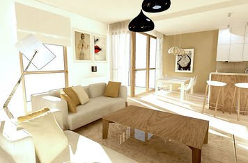 Online design Contemporary Combined Living/Dining by Alicja S. thumbnail