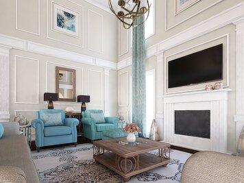 Online design Glamorous Living Room by Rajna S. thumbnail