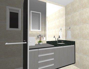 Online design Contemporary Bathroom by Yasmin C. thumbnail