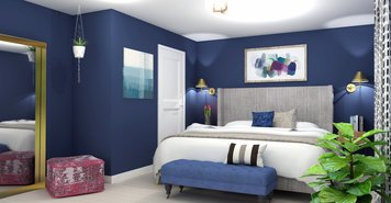 Online design Eclectic Bedroom by Brittany J. thumbnail
