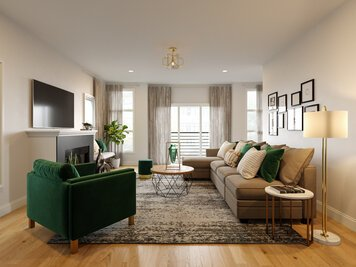 Online design Glamorous Living Room by Casey H. thumbnail