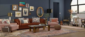 Online design Eclectic Living Room by Aimee M. thumbnail