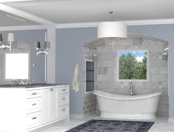 Online design Traditional Bathroom by Betsy M. thumbnail
