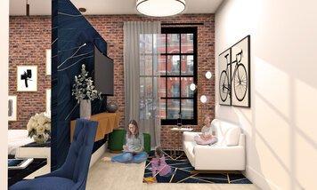 Online design Modern Living Room by Allison H. thumbnail