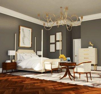 Online design Glamorous Bedroom by Rivka J. thumbnail