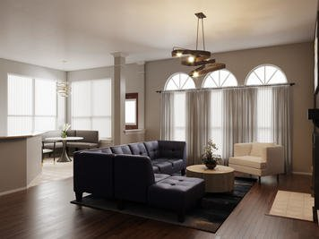 Online design Modern Combined Living/Dining by Sarah M. thumbnail