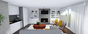 Online design Transitional Living Room by Monica F. thumbnail