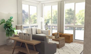 Online design Eclectic Combined Living/Dining by Zena A. thumbnail