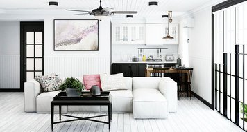 Online design Transitional Combined Living/Dining by Margaryta S. thumbnail