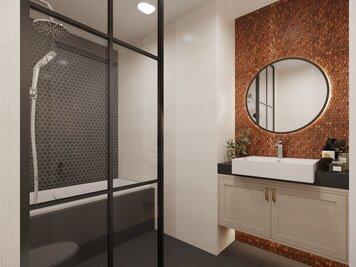 Online design Modern Bathroom by Aida A. thumbnail