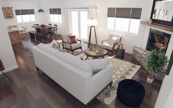 Online design Eclectic Living Room by Angela S. thumbnail