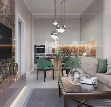 Online design Glamorous Living Room by Kiran K. thumbnail