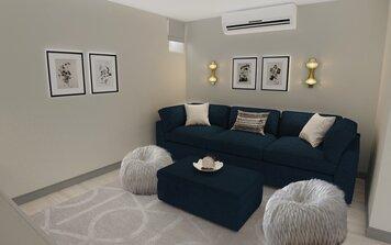 Online design Modern Living Room by Neerja L. thumbnail