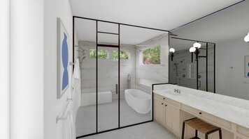 Online design Contemporary Bathroom by Ryley B. thumbnail