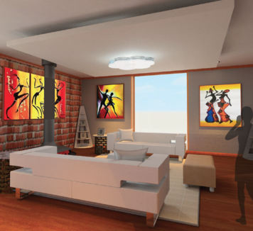 Online design Contemporary Living Room by Elsabieth E. thumbnail
