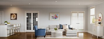 Online design Transitional Combined Living/Dining by Theresa W. thumbnail