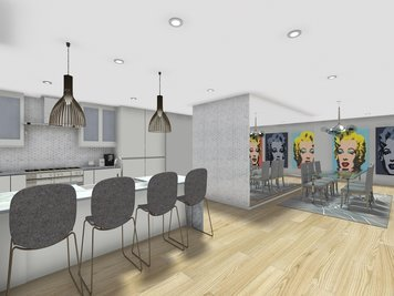 Online design Modern Kitchen by Jessica C. thumbnail