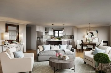Online design Transitional Combined Living/Dining by Rachel H. thumbnail