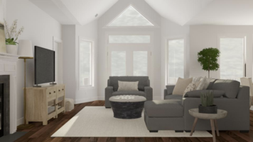 Online design Transitional Combined Living/Dining by Greta Z. thumbnail