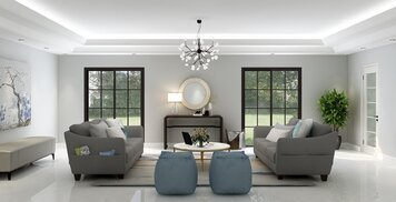 Online design Transitional Living Room by Eda B. thumbnail