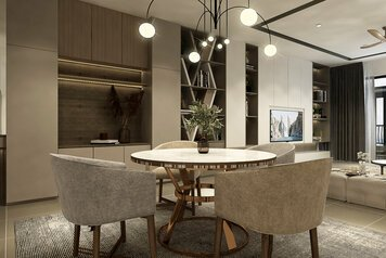 Online design Modern Dining Room by Mahirah H. thumbnail