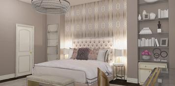 Online design Glamorous Bedroom by Taron H. thumbnail
