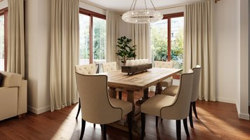 Online design Transitional Dining Room by Tamna E. thumbnail