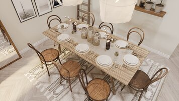 Online design Eclectic Dining Room by Aida A. thumbnail