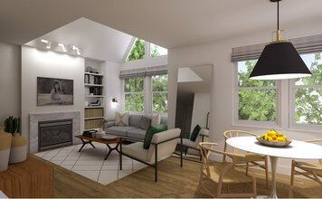 Online design Contemporary Combined Living/Dining by Drew F. thumbnail
