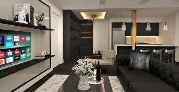 Online design Glamorous Combined Living/Dining by Charmaine M. thumbnail