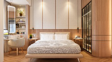 Online design Contemporary Bedroom by Everlyn Z. thumbnail