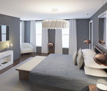 Online design Contemporary Bedroom by Lynda N thumbnail