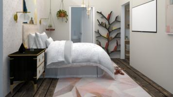 Online design Glamorous Bedroom by Samantha W. thumbnail