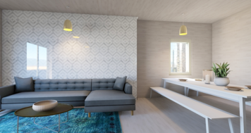 Online design Contemporary Combined Living/Dining by Jennifer S. thumbnail