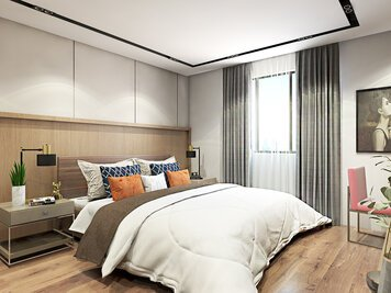 Online design Modern Bedroom by Salome P. thumbnail