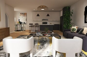 Online design Modern Combined Living/Dining by Nathan H. thumbnail