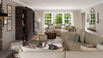 Online design Traditional Living Room by Selma A. thumbnail