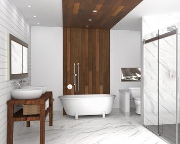 Online design Modern Bathroom by Hannah C. thumbnail