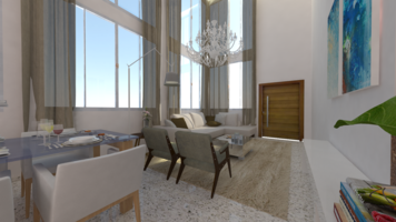 Online design Transitional Combined Living/Dining by Jessica S. thumbnail