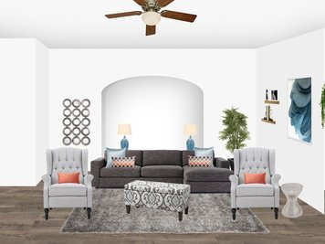 Online design Transitional Living Room by Amisha D. thumbnail