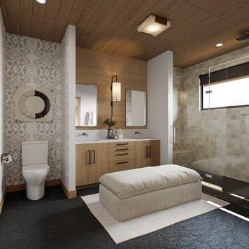 Online design Modern Bathroom by Courtney B. thumbnail