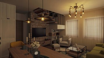 Online design Transitional Living Room by Mihajlo S. thumbnail