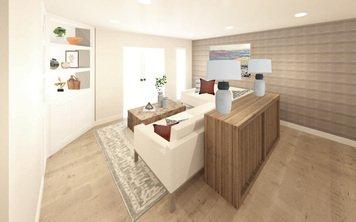 Online design Transitional Living Room by Meghan E. thumbnail