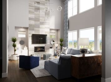 Online design Transitional Living Room by Berkeley H. thumbnail