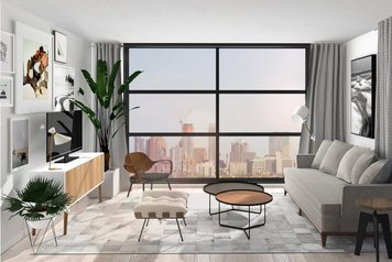 Online design Modern Combined Living/Dining by Jessica S. thumbnail