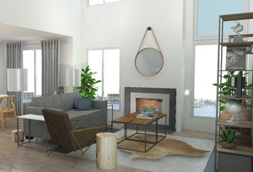 Online design Eclectic Living Room by Brittany J. thumbnail