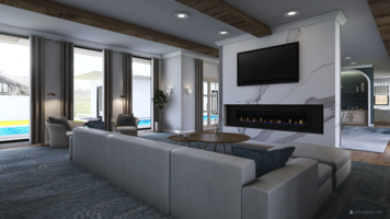 Online design Contemporary Living Room by Kristin W. thumbnail
